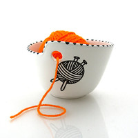 Yarn bowl, knit bowl,  crochet bowl, great gift for mom, crafters, knitters and sheep barbers