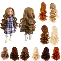 New 1pcs Dolls Accessories Dolls Wavy Curly Hair Wig for 18 inch American Girl Doll DIY Making Party Accessory Hair Replace