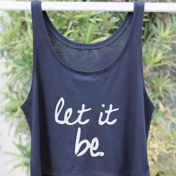 Let It Be - Yoga Tank - Flowy Yoga Shirt - Boxy Shirt - Yoga - Yoga TankYoga Top - Yoga Clothes - Namaste Shirt - Women's Yoga Tops - Yoga