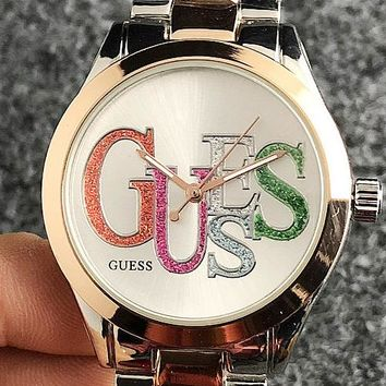 GUESS 2019 new trend simple men and women models quartz watch