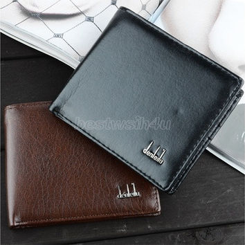 Men's Synthetic Leather Wallet Money Pockets Credit/ID Cards Holder Purse 2 Colors SV000195 [8822157251]