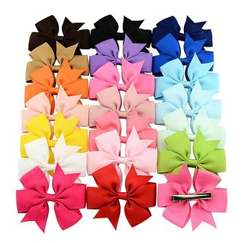 Fashion 3 Inch Boutique Grosgrain Ribbon Hairclips Girl Bows With Clip Hair Clips Hair Pins Hair Accessories 564