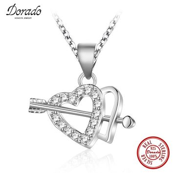 Dorado Brand Design Romantic Cupid's Arrows Pendant Necklace & 100% 925 Sterling Silver Lovers' Gift Free Shipping