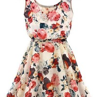 Essential Floral-Print Mini Dress - OASAP.com