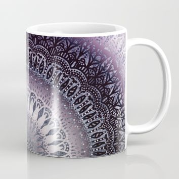 PURPLE WINTER LEAVES MANDALA Mug by Nika | Society6