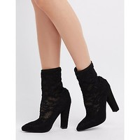 Lace Sock Ankle Booties | Charlotte Russe