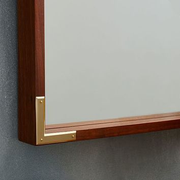 Malone Campaign Floor Mirror - Walnut