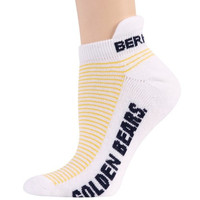 Cal Golden Bears Ladies White-Gold Striped Ankle Socks