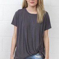 Get Twisted Comfy Short Sleeve Basic {Grey}