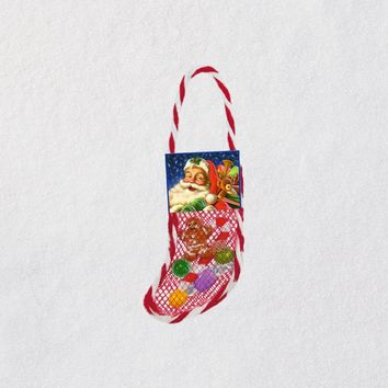 Mini Lil' Stuffed Stocking Ornament, 1.56