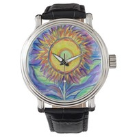 Flagler Beach Sunflower Wrist Watch
