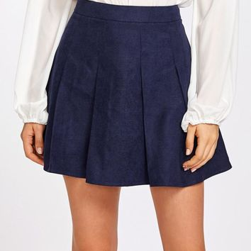 Boxed Pleated Skirt