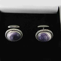 Wampum Cufflinks by Martha Willeto