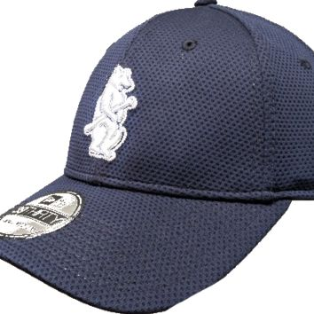 Chicago Cubs Navy 1914 Logo Performance 39THIRTY Flex Fit Hat By New Era