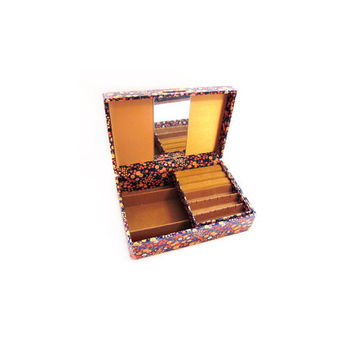 Vintage Jewelry Box, Gunther Mele / Fabric Covered
