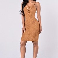 Look Into Your Heart Dress - Brown