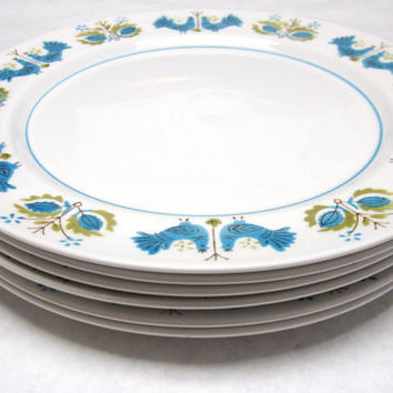Mikasa Blue Bird Dinner Plates Set Of Six Mediterrania