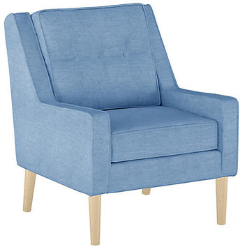 Shara Accent Chair, French Blue Linen - Accent Chairs - Chairs - Living Room - Furniture | One Kings Lane