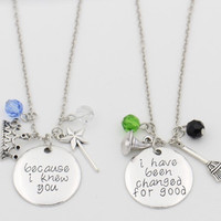 """Because I knew you"""" """"I have been Changed for Good""""  Necklace"""