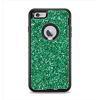 The Green Glitter Print Apple iPhone 6 Plus Otterbox Defender Case Skin Set