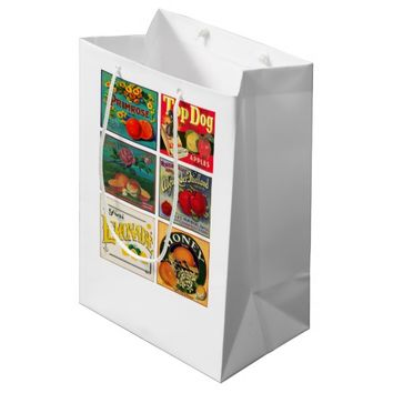 Vintage fruit advertisement gift bag