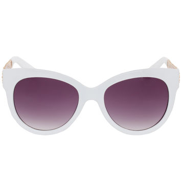 Crimson Sunglasses in White