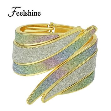 DCCKHY9 Bracelets Pulseiras New 2016 Chinese Traditional Design Rhinestone Cuff Bracelets Bangles For Women Gifts Jewelry