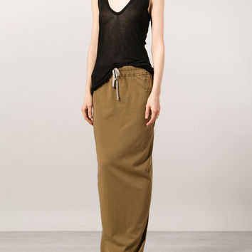 Rick Owens DRKSHDW / Long Pillar Skirt