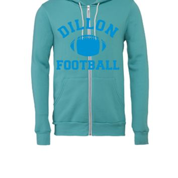 Dillon Panthers Football - Unisex Full-Zip Hooded Sweatshirt