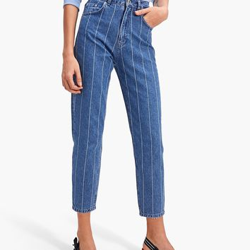 Stripy mom jeans - null | Stradivarius United Kingdom