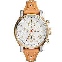 Fossil Original Boyfriend Chronograph Watch - Brown/Silver