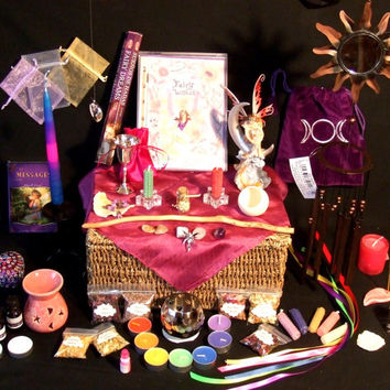 Fairy Altar Set Herbs, Wand and Chalice to invite the magical Fae into your life