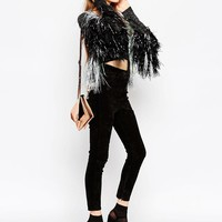 ASOS | ASOS Cardigan with Metallic Tape Fringing at ASOS
