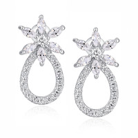 Marquise and Round Cubic Zirconia Earrings