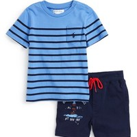 Ralph Lauren Short Sleeve Shirt & Knit Shorts (Baby Boys) | Nordstrom