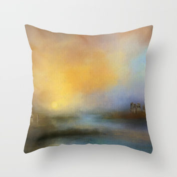 Monoliths - Who Were We Throw Pillow by Theresa Campbell D'August Art