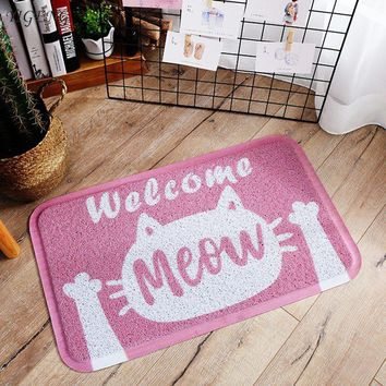 Autumn Fall welcome door mat doormat Entrance Rugs for Kitchen Welcome  Cute Cat  Floor Mat Home Decoration Antiskid Carpets Balcony Living Room Mat AT_76_7