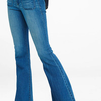 Patch Pocket High Rise Bell Flare Jean from EXPRESS