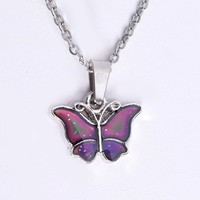 Mood Changing Butterfly Necklace