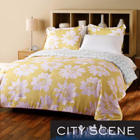 City Scene Modern Bloom 7-piece Reversible Bed in a Bag with Sheet Set | Overstock.com