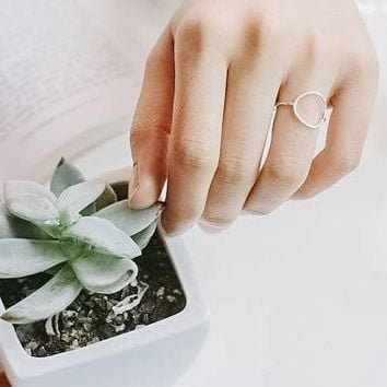 Minimalist Karma Circle Ring