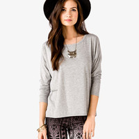 Long Sleeve Boxy Tee   FOREVER 21 - 2045485426