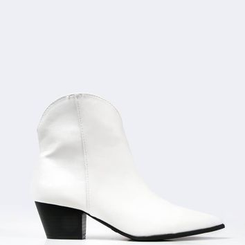 Pointed Toe Slip On Boots
