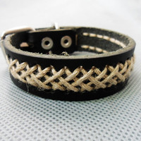 Bangle leather bracelet buckle bracelet woven bracelet men bracelet women bracelet with leather and ropes woven 1SZ-LH-201