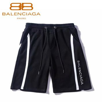 Balenciaga Summer new casual pants letter printed street style shorts Black