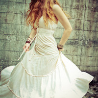 Off White Leno Long Dress Heavenly Beautiful and so by Shovava