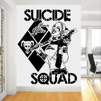 Task Force X Wall Stickers Quotes Suicide Squad Harley Quinn Vinyl Art Mural Home Sweet Cool Decal Special Design Decor SYY454