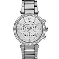 Parker Glitz Watch, Silver Color - Michael Kors