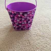Purple Rhinestone Pencil/Pen Holder