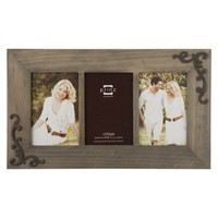 Lillie-Scrolls Wood Frame - Taupe (4x6)